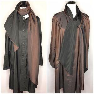 Mycra Pac Raincoat Lagenlook Black Pleated Jacket
